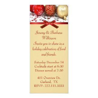 Invitación larga elegante de la fiesta de Navidad