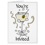 Invitación - le invitan que ofrece el cóctel tarjetón