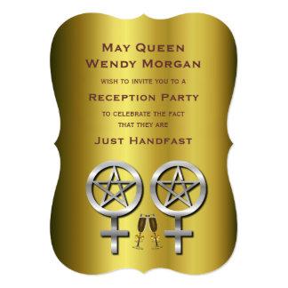 Invitación lesbiana pagana de la recepción de la