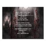 Invitación ligera del boda del gótico de los rosas