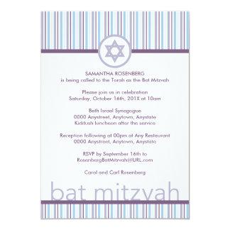 Invitación ligera y brillante de Mitzvah del palo