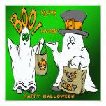 Invitación linda de Halloween de los fantasmas Invitación 13,3 Cm X 13,3cm