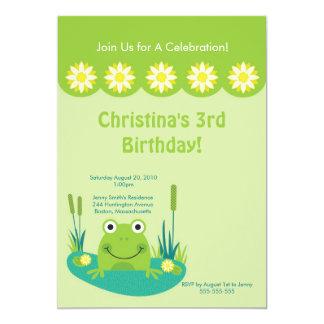 Invitación linda de la fiesta de cumpleaños de la invitación 12,7 x 17,8 cm
