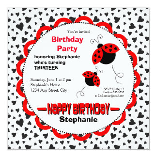 Invitación linda de la fiesta de cumpleaños de las