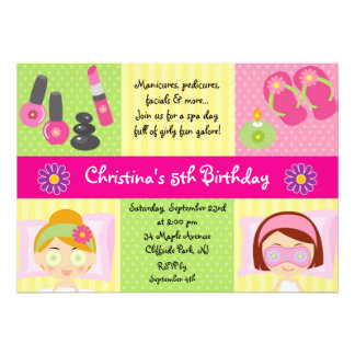 Invitación linda de la fiesta de cumpleaños del ba