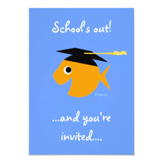 Invitación linda de la fiesta de graduación