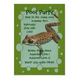Invitación linda de la fiesta en la piscina de la invitación 12,7 x 17,8 cm