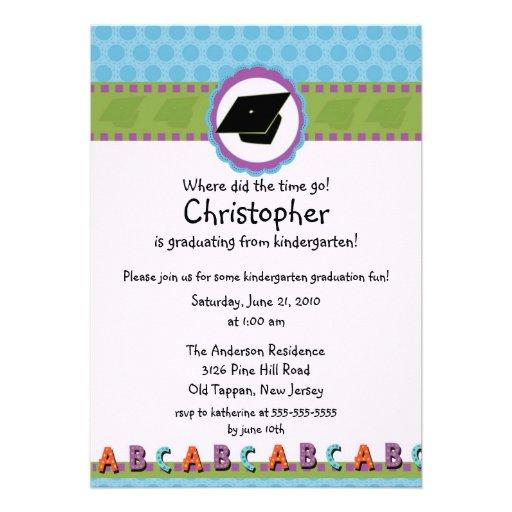 Invitación LINDA de la graduación de la guardería