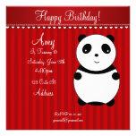 Invitación linda de la panda