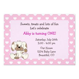 Invitación linda de los chicas del cumpleaños del