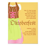 Invitación linda de Oktoberfest del Dirndl Invitación 12,7 X 17,8 Cm