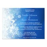 Invitación linda del boda del invierno invitación 13,9 x 19,0 cm