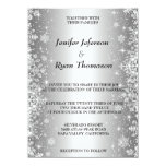 Invitación linda del boda del invierno