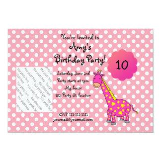 Invitación linda del cumpleaños de la jirafa