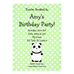 Invitación linda del cumpleaños de la panda