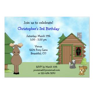Invitación linda del cumpleaños de los alces y de