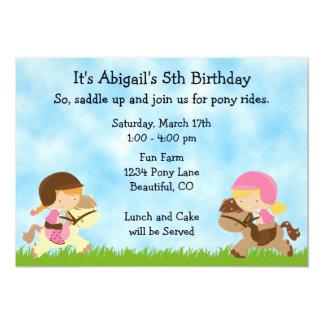 Invitación linda del cumpleaños del caballo de las