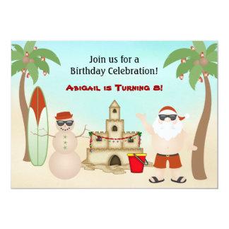 Invitación linda del cumpleaños del día de fiesta