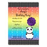 Invitación linda del cumpleaños del oso de panda