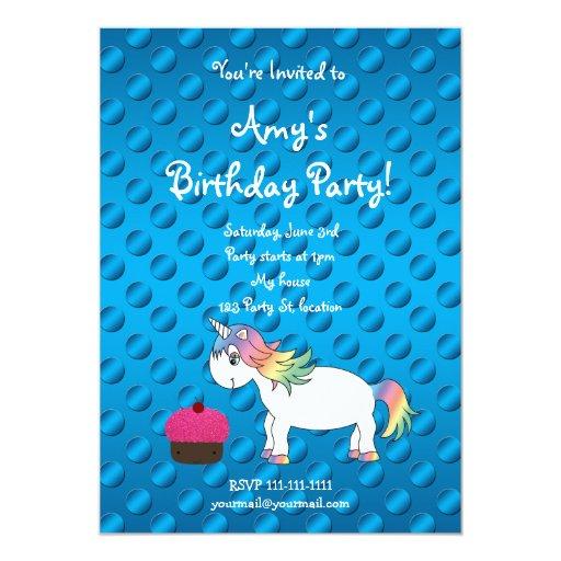 Invitación linda del cumpleaños del unicornio