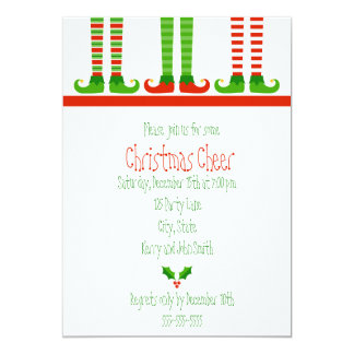 Invitación linda del duende del navidad