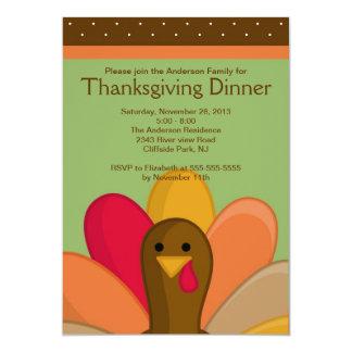 Invitación linda del fiesta de cena de Turquía de