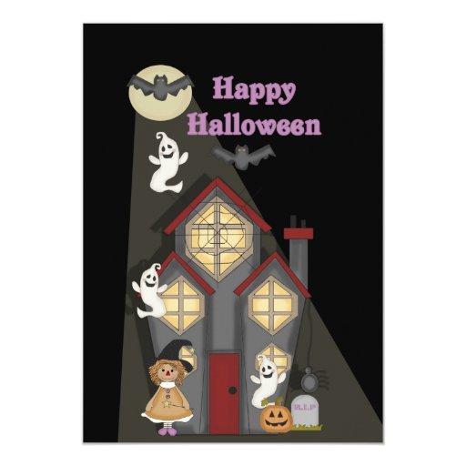 Invitación linda del fiesta de Halloween de los Invitación 12,7 X 17,8 Cm