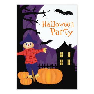 Invitación linda del fiesta de Halloween del