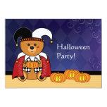 Invitación linda del fiesta de Halloween del oso Invitación 12,7 X 17,8 Cm