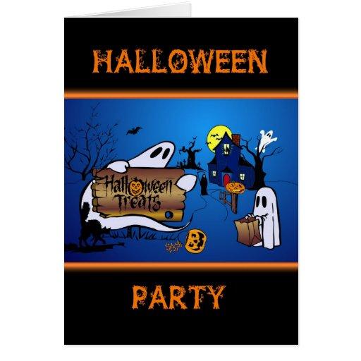 Invitación linda del fiesta de Halloween Tarjeta Pequeña