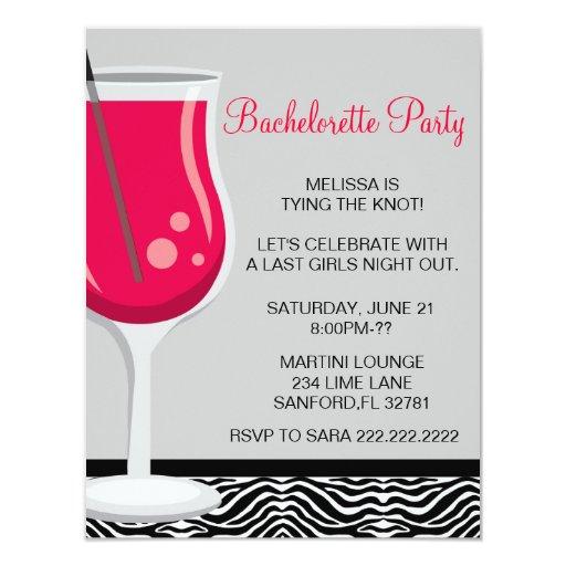 Invitación linda del fiesta de Martini