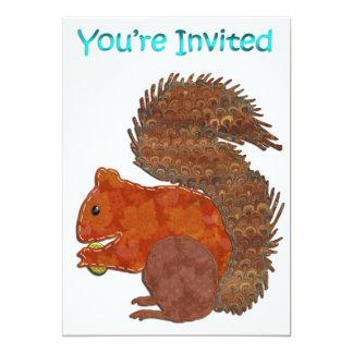 Invitación linda del fiesta del Applique de la