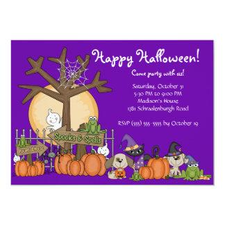 Invitación linda del fiesta del feliz Halloween