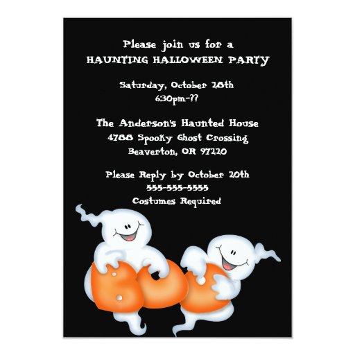 Invitación linda del fiesta del traje del fantasma