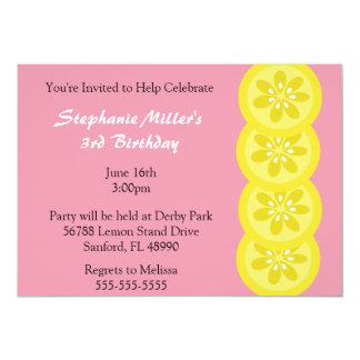 Invitación linda del fiesta del verano del limón