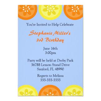 Invitación linda del fiesta del verano del limón y