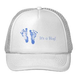 Invitación linda del nacimiento de las huellas del gorras