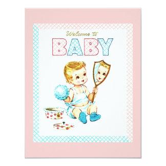 Invitación linda del nacimiento del bebé y del