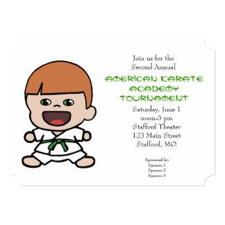 Invitación linda del torneo del karate de los