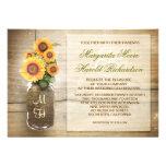 invitación linda rústica del boda del tarro de alb