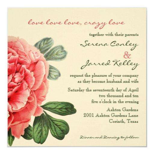 Invitación loca del amor
