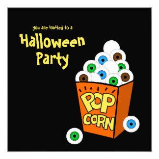 Invitación loca del fiesta de Halloween de los glo