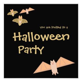 Invitación loca del fiesta de Halloween de los pal