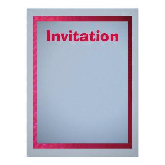 Invitación - luz - azul - gris con la franja roja