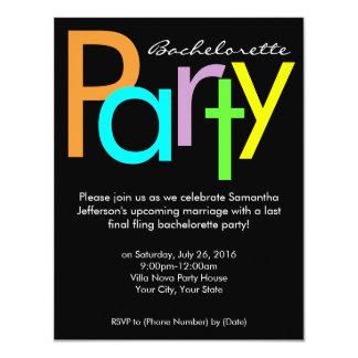 Invitación maciza del fiesta de Bachelorette de Invitación 10,8 X 13,9 Cm