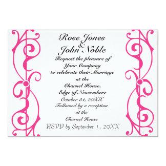 Invitación (magenta) de marfil del boda de la invitación 12,7 x 17,8 cm