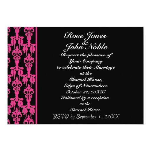 Invitación (magenta) estelar del boda invitación 12,7 x 17,8 cm