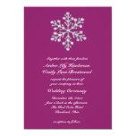 Invitación magenta hivernal 2 del boda invitación 12,7 x 17,8 cm