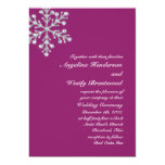 Invitación magenta hivernal del boda invitación 12,7 x 17,8 cm