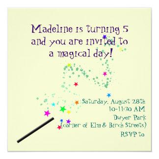 Invitación mágica 3 del cumpleaños